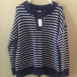 NWT American Eagle women's striped sweater Medium
